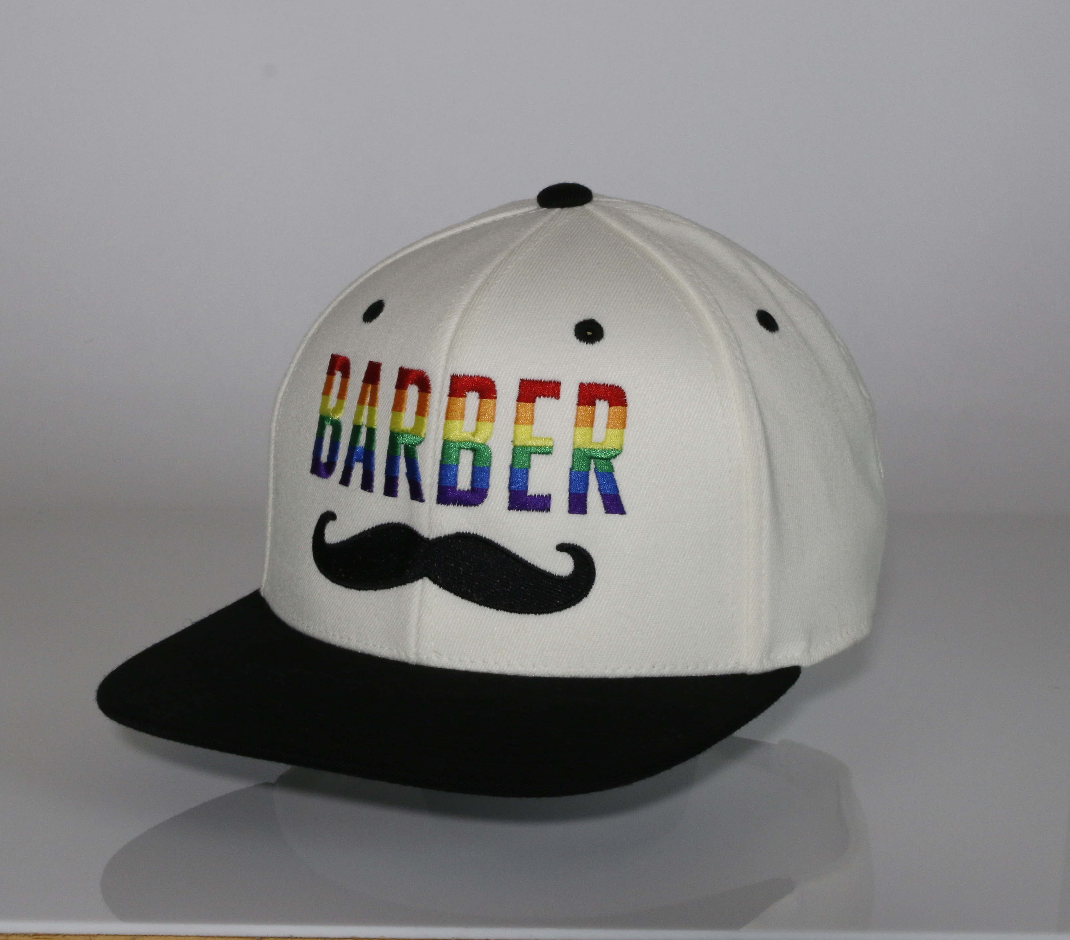 Rainbow snapback Hat white