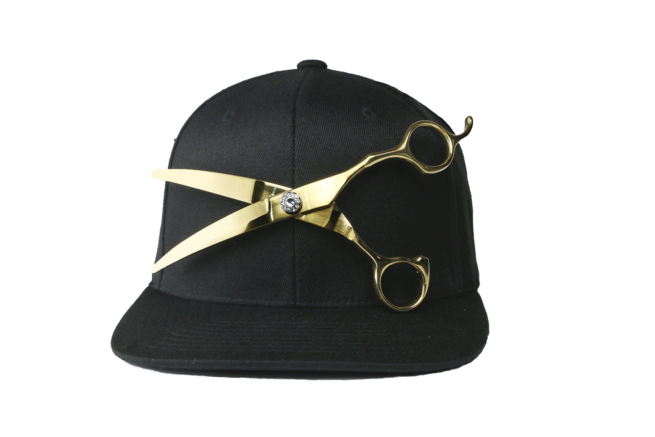 Gold shear black snapback 3